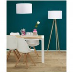 Scandinavian style TRANI (white, natural) fabric floor lamp
