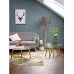 Fijo escandinavo tapizado Sofá 3 LUCIA tela (gris)