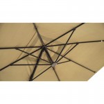 Sonnenschirm deportiert Quadrat mit Belüftung 3 m x 3 m Caesar (Beige)