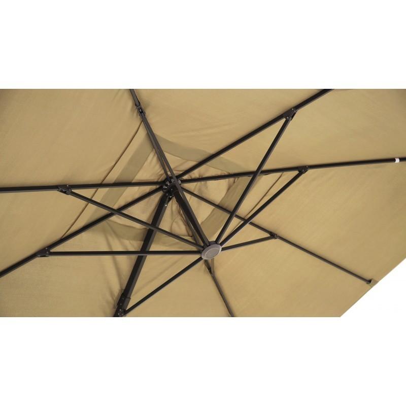 Parasol déporté carré avec ventilation 3m x 3m CESAR (beige) - image 30076