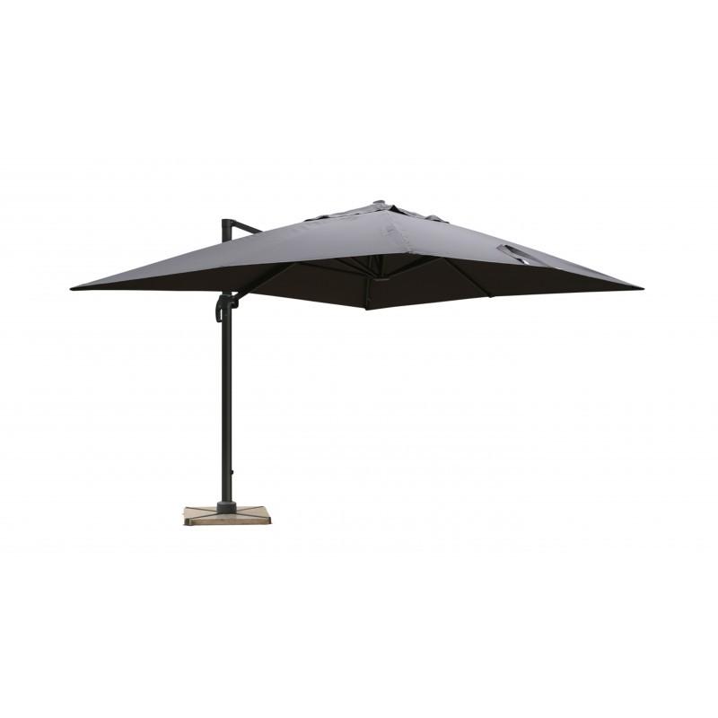 Parasol déporté avec ventilation 3m x 4m LEONIE (gris)