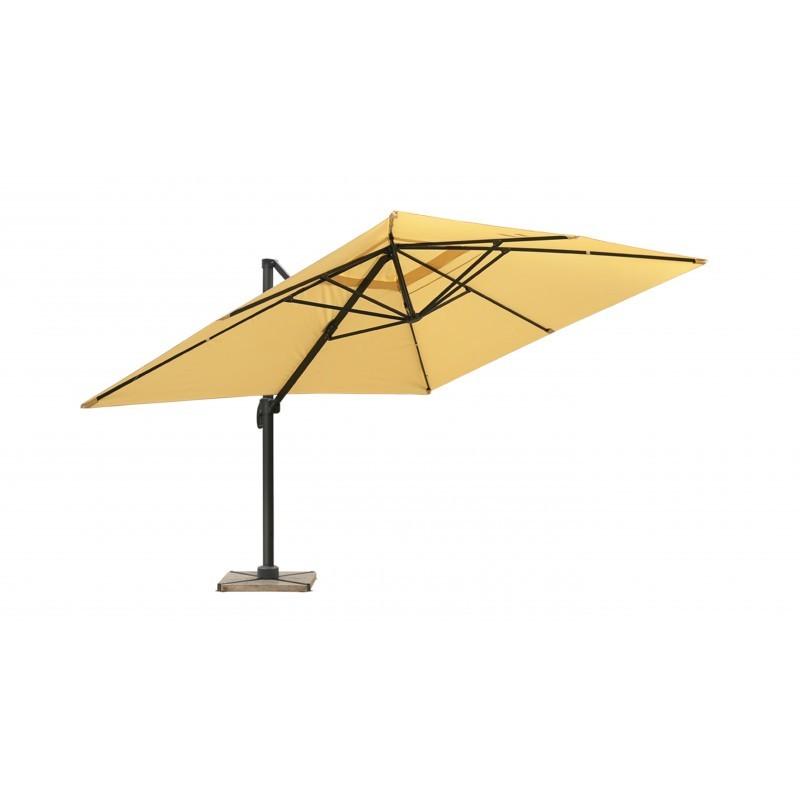 Parasol déporté avec ventilation 3m x 4m LEONIE (beige) - image 30092