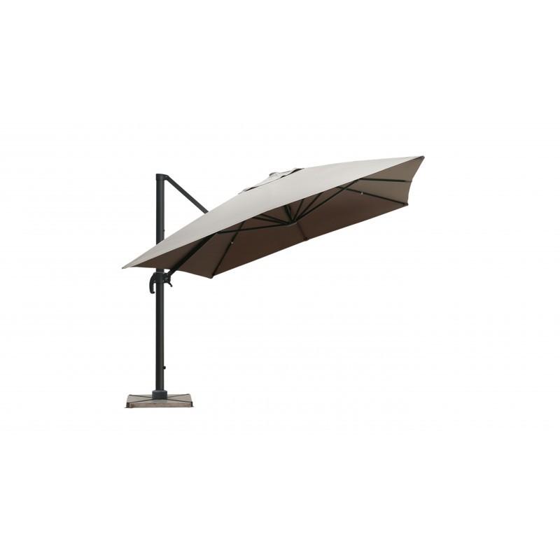 Parasol déporté avec ventilation 3m x 4m LEONIE (taupe) - image 30099
