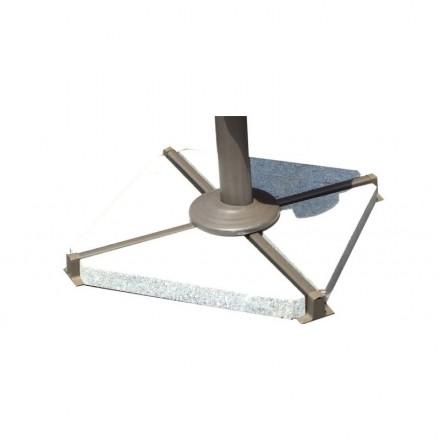 4 losas triangulares de granito para paraguas FILIP (gris)