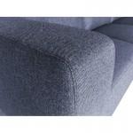 Canapé d'angle côté Droit design 4 places avec méridienne ORIANE en tissu (gris)