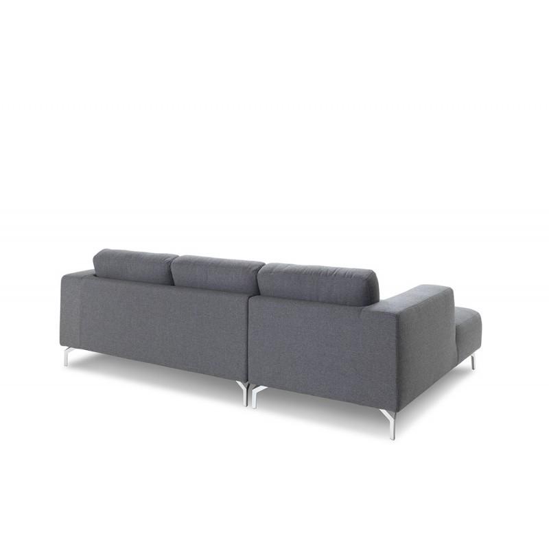 Canapé d'angle côté Gauche design 4 places avec méridienne  ORIANE en tissu (gris) - image 30112
