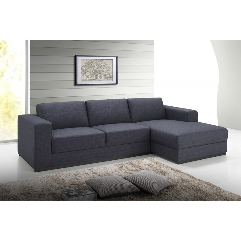 corner sofa design right side 4 places with ma chaise in fabric dark gray. Black Bedroom Furniture Sets. Home Design Ideas