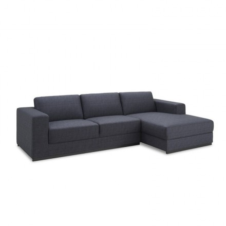 Corner sofa design right side 4 places with Ma chaise in fabric (dark gray)