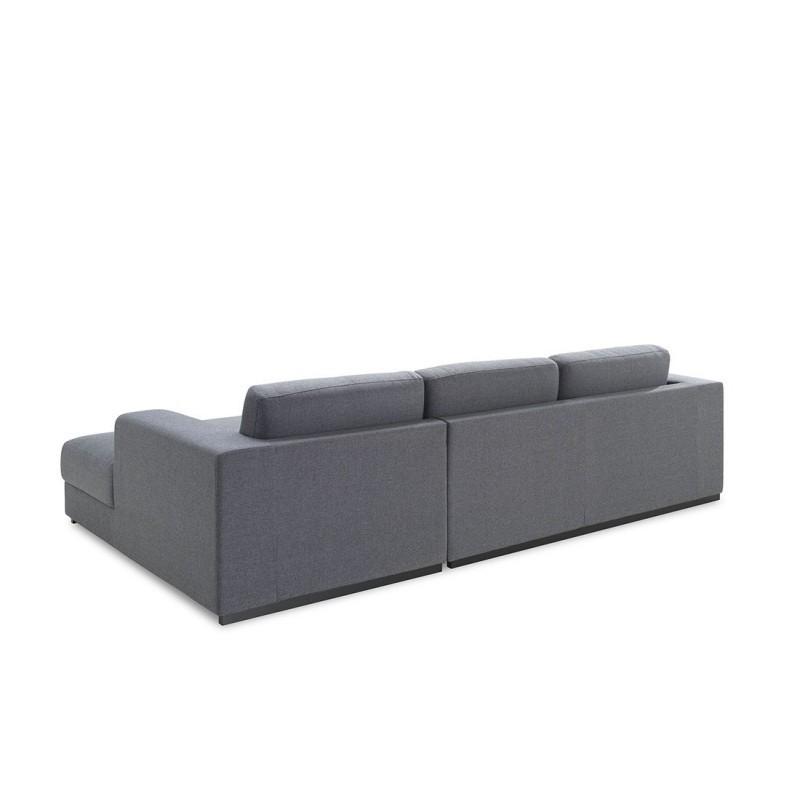 Canapé d'angle côté Droit design 4 places avec méridienne  MAGALIE en tissu (gris) - image 30157