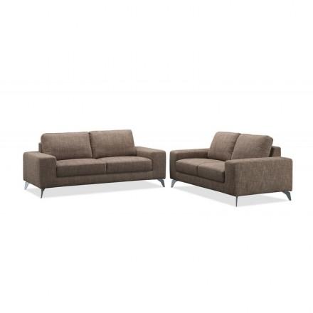Design-richtige Sofa 2 Sitzer ALBERT (braun) Stoff