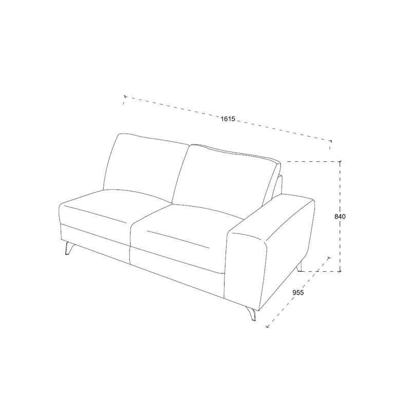 Canapé d'angle côté Gauche design 3 places avec méridienne THEO en tissu  (gris clair) - image 30210