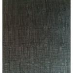 Canapé droit design 3 places MARIO en tissu (gris foncé)