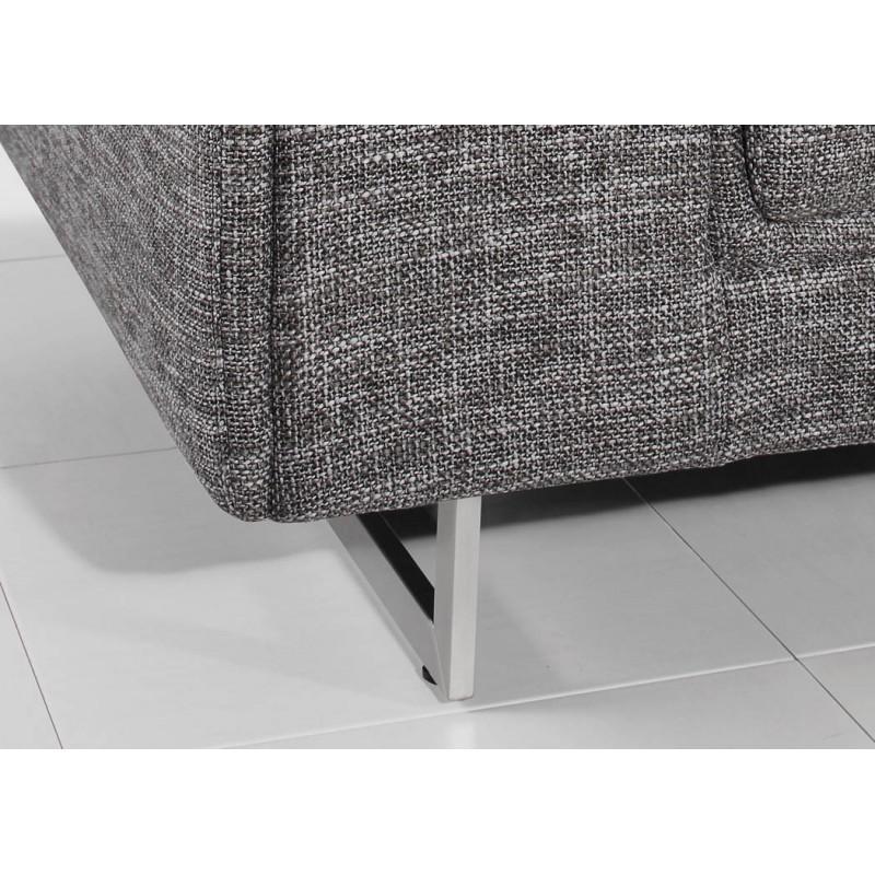 Canapé droit design 3 places MARIO en tissu (gris clair chiné) - image 30270
