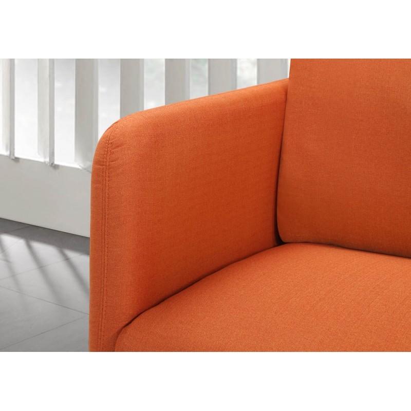 Fauteuil vintage cubique JONAZ en tissu (orange) - image 30281