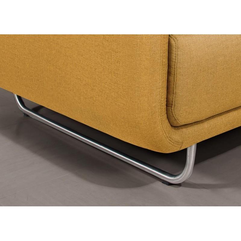 Canapé droit vintage cubique 2 places JONAZ en tissu (jaune) - image 30308