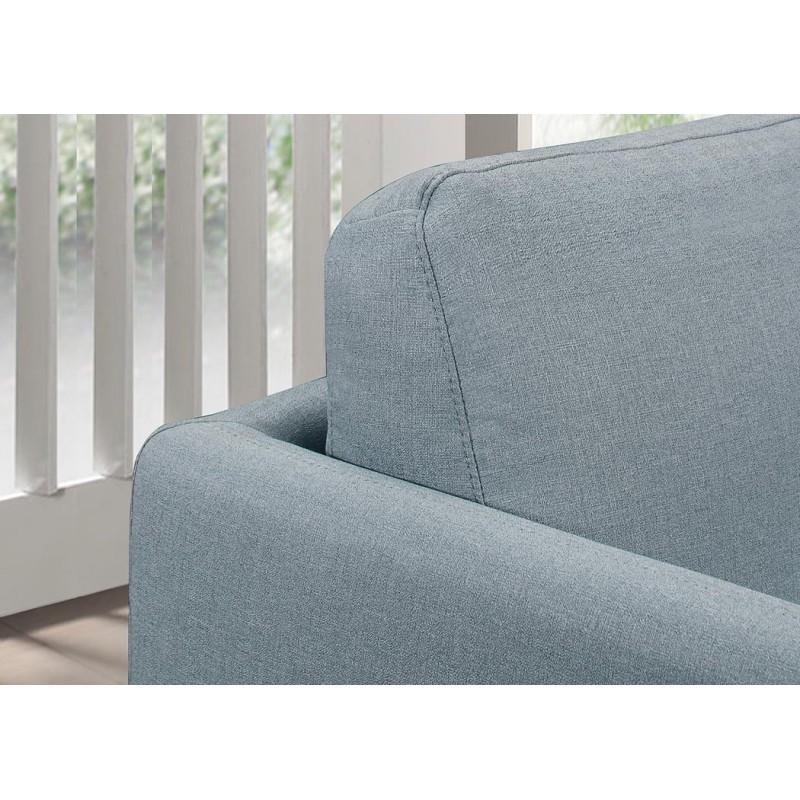 Canapé droit vintage cubique 3 places JONAZ en tissu (bleu clair) - image 30313