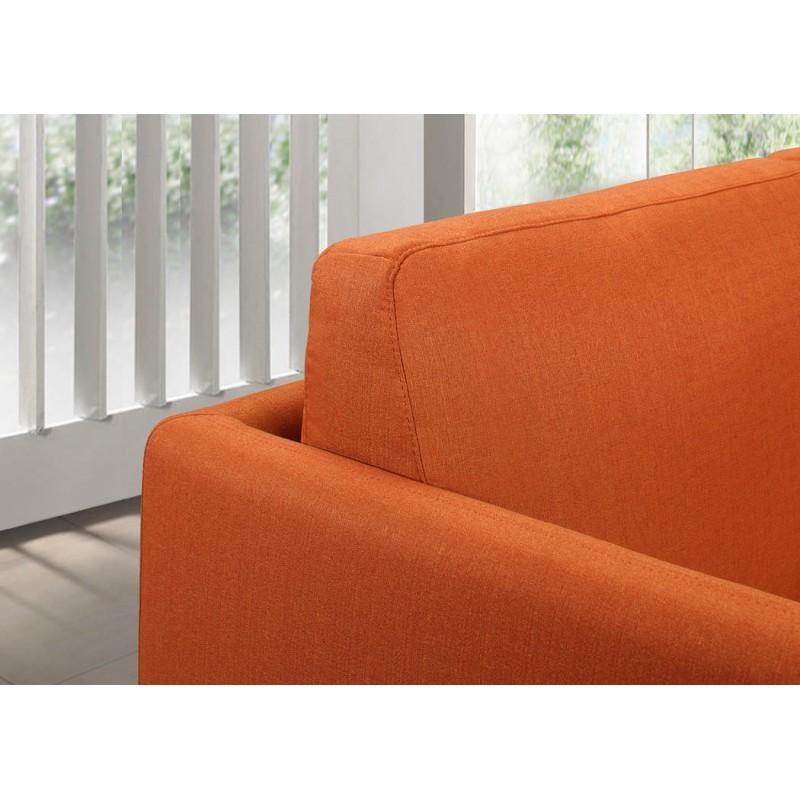 Canapé droit vintage cubique 3 places JONAZ en tissu (orange) - image 30319