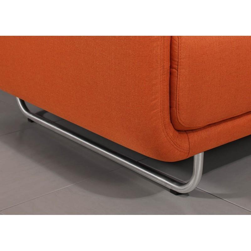 Canapé droit vintage cubique 3 places JONAZ en tissu (orange) - image 30320