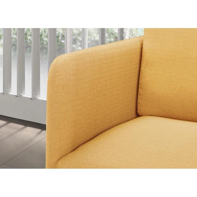 Canapé droit vintage cubique 3 places JONAZ en tissu (jaune) - image 30330