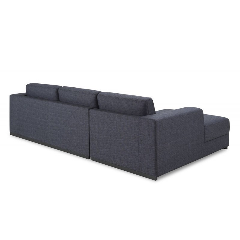 corner sofa design left 4 side seats with ma chaise in fabric dark gray. Black Bedroom Furniture Sets. Home Design Ideas