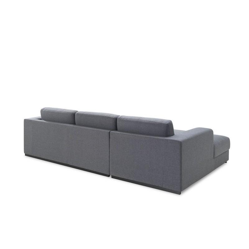 Canapé d'angle côté Gauche design 4 places avec méridienne MAGALIE en tissu (gris) - image 30393