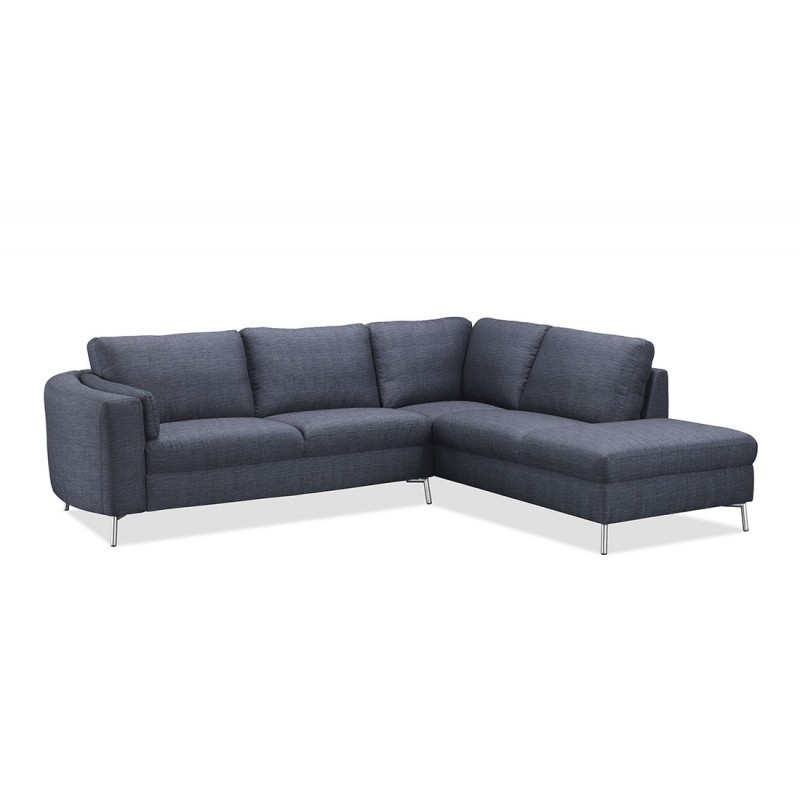 ecksofa design rechts 3 sitzer mit chaiselongue moris in stoff dunkelgrau. Black Bedroom Furniture Sets. Home Design Ideas
