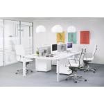 Fauteuil de bureau CRAVE en textile (blanc)