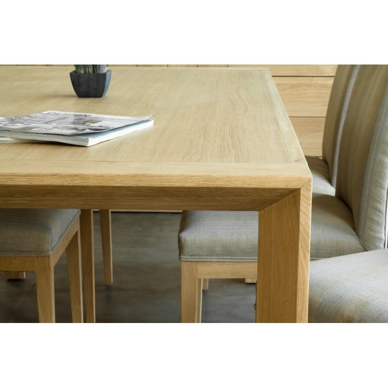 Table à manger rectangulaire (200x95cmx76cm) JASON en chêne massif (chêne naturel) - image 30435