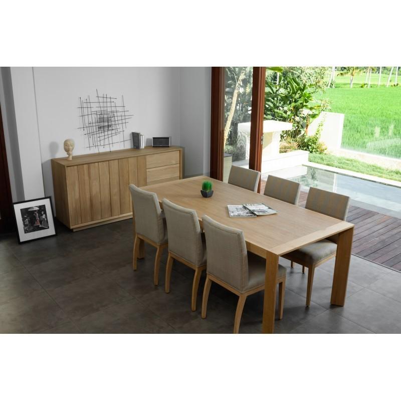 Table à manger rectangulaire (200x95cmx76cm) JASON en chêne massif (chêne naturel) - image 30436