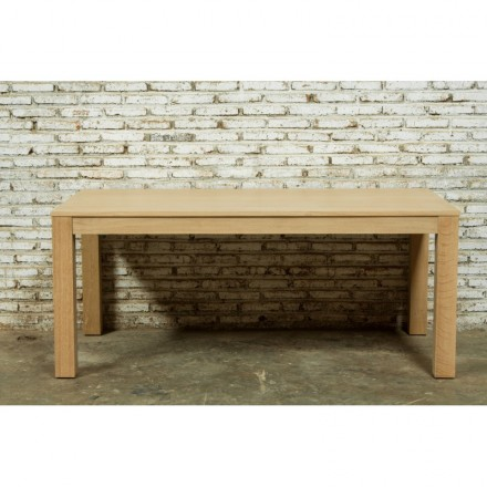Mesa para comer tramo (180/235x90cmx76, 5cm) roble JASON (roble natural)