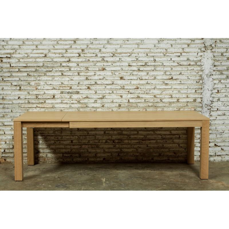 Table à manger extensible (180/235x90cmx76,5cm) JASON en chêne massif (chêne naturel) - image 30451