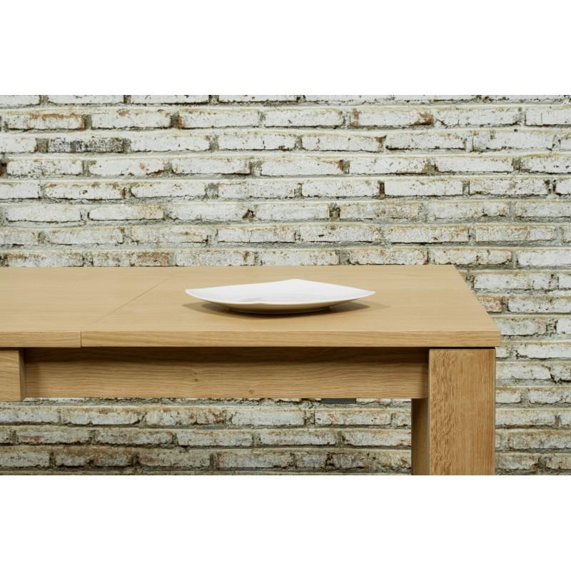 Table à manger extensible (180/235x90cmx76,5cm) JASON en chêne massif (chêne naturel) - image 30453