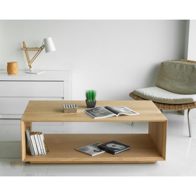 Table basse rectangulaire JASON en chêne massif (chêne naturel)