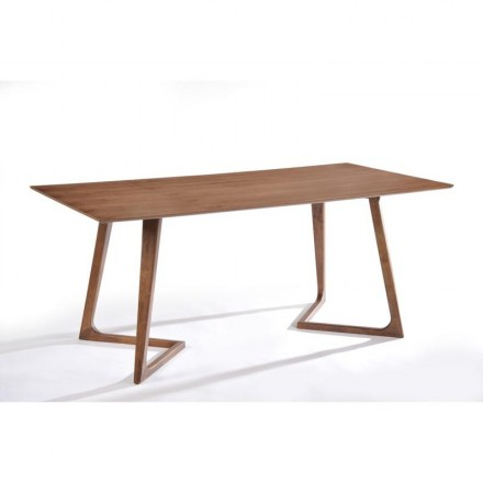Table à manger design LOANE en bois (180cmX90cmX76cm) (noyer)