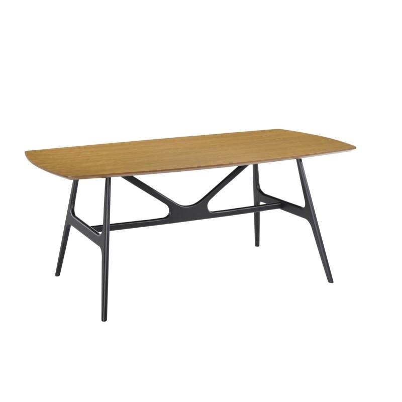 Mesa de comedor diseño KATELL (180cmX90cmX75, 5cm) de madera (roble)