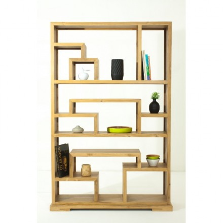 EVAN library (natural) teak shelf