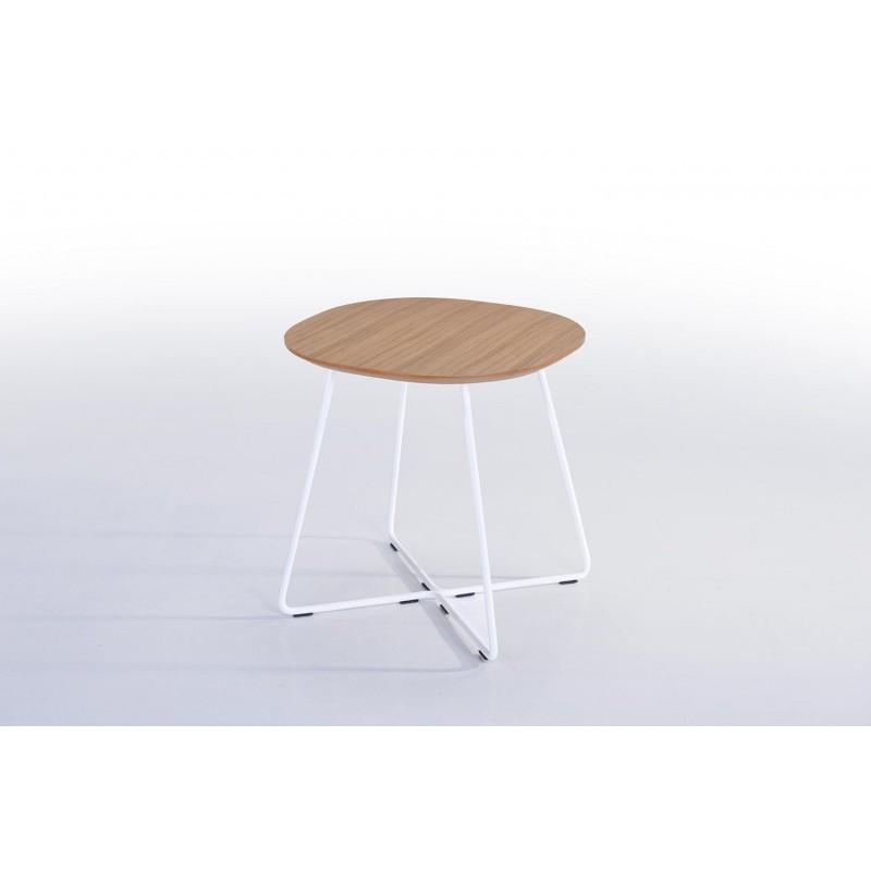 Tavolo Legno Rovere Naturale.Fine Tabella Tabella Di Fine Design Argan In Legno E Metallo