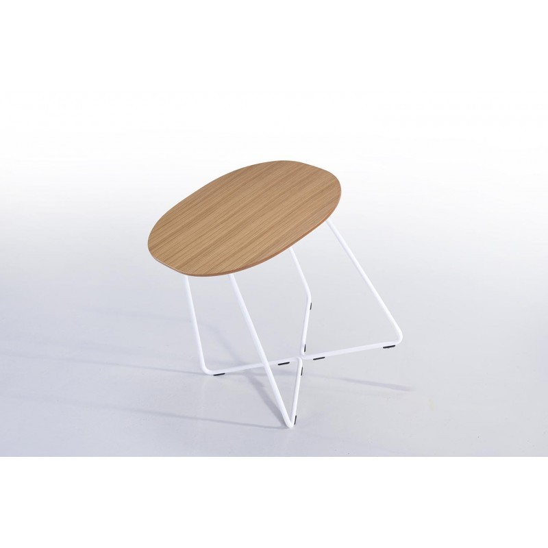 Fine tabella, tabella di fine design ARGAN in legno e metallo (rovere naturale) - image 30567