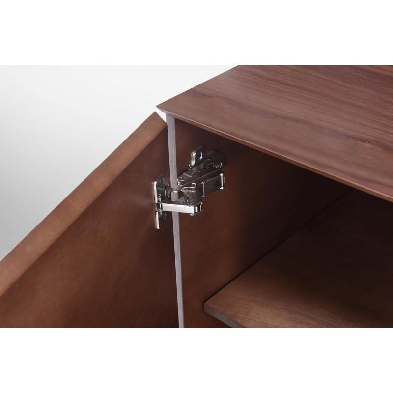 Buffet enfilade 4 portes 1 tiroir contemporain et vintage CORREZE en bois (noyer) - image 30580