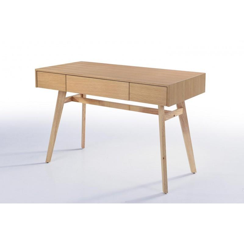 Bureau droit scandinave DENEZ en bois (chêne naturel) - image 30589