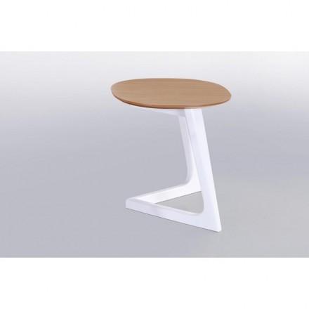 Tavolino, alla fine del divano design e aletta scandinava in legno (rovere, naturale)