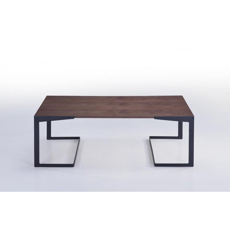 Table basse vintage MAGEN en bois (noyer) - image 30620