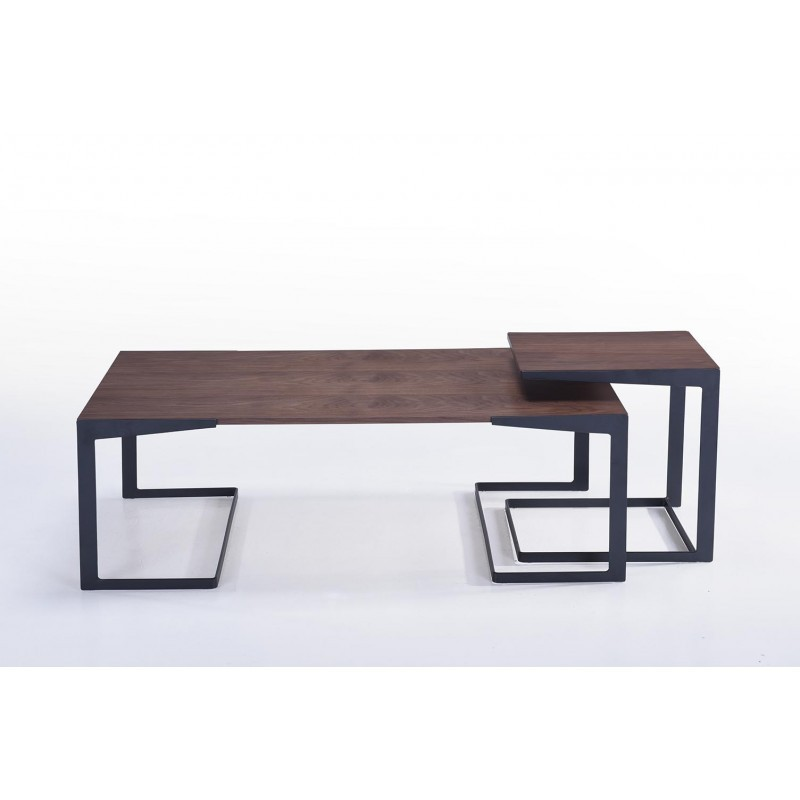 Table basse vintage MAGEN en bois (noyer) - image 30621