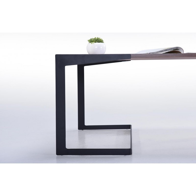 Table basse vintage MAGEN en bois (noyer) - image 30623