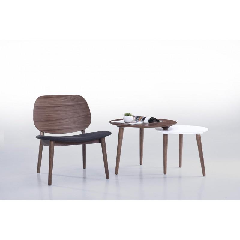 Tables basses gigognes ELIAZ en bois (noyer, blanc mat) - image 30627