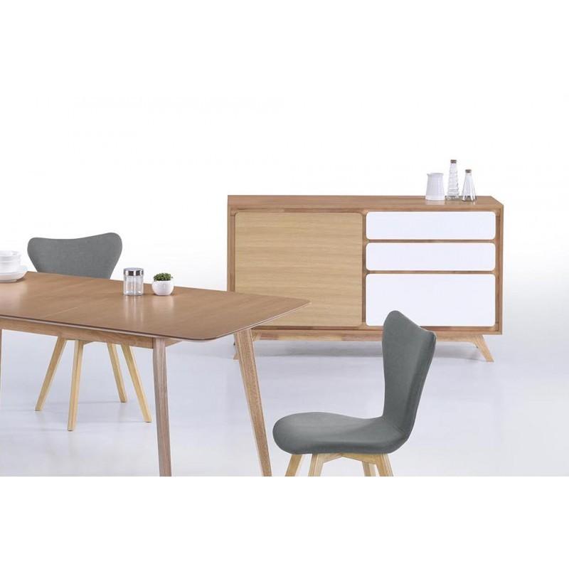 buffet enfilade 1 porte 3 tiroirs scandinave gaud en bois. Black Bedroom Furniture Sets. Home Design Ideas