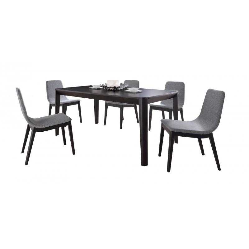 Table à manger design ENZO en bois (180cmX90X75cm) (noir) - image 30653