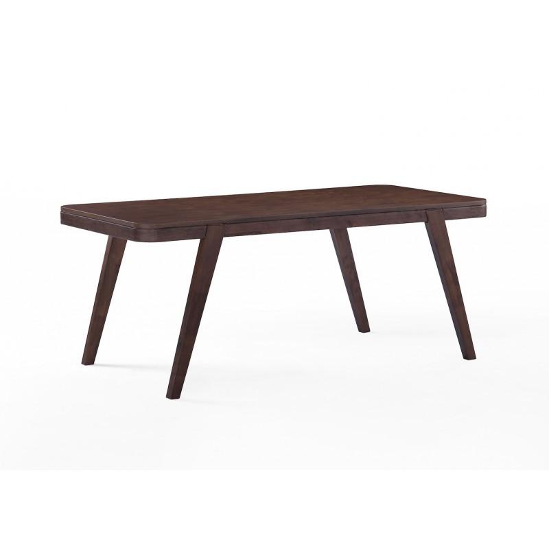 Table à manger scandinave et vintage LOEVA en bois (180cmX90X75cm) (noyer) - image 30655