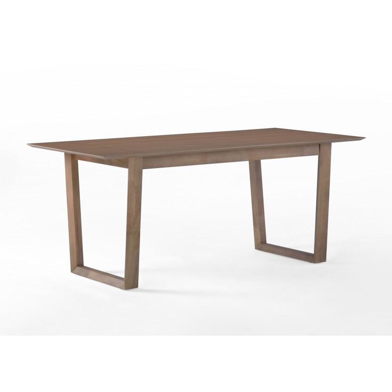 Table manger design ewen en bois 180cmx90x75cm ch ne for Table a manger en chene