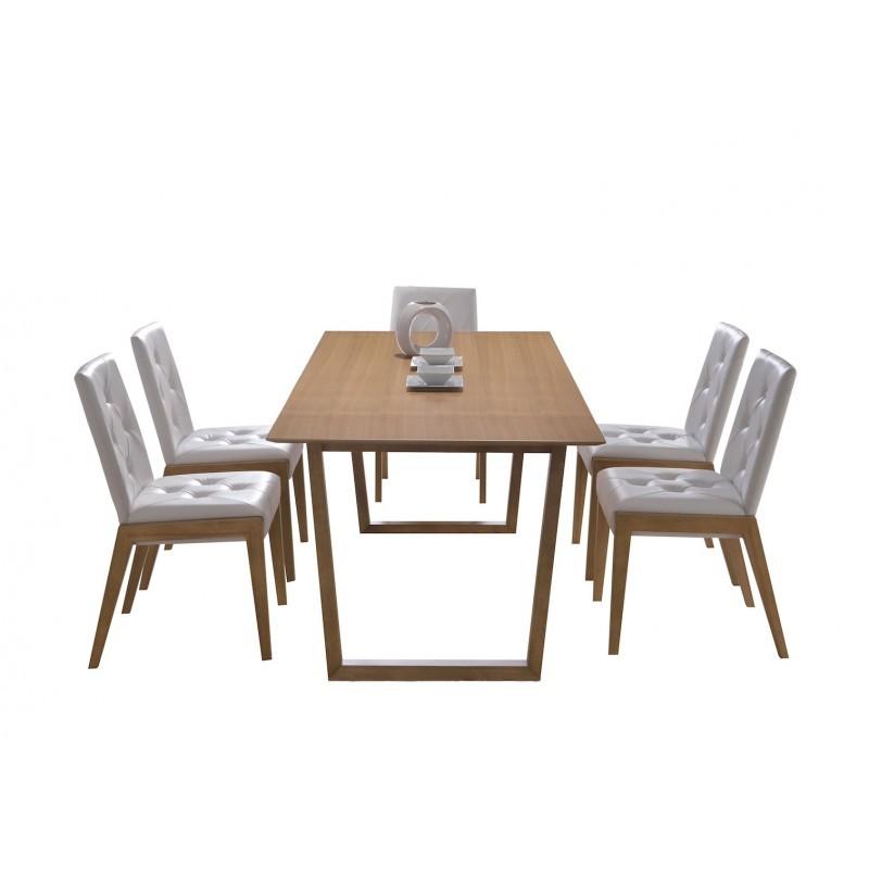 Table à manger design EWEN en bois (180cmX90X75cm) (chêne) - image 30659